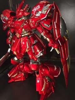 纯創作(六) Bandai萬代MG高達模型卡沙扎比 鏡红,金件 精密水口,基本水貼,全金屬著色骨架 所見所得 荃灣交收