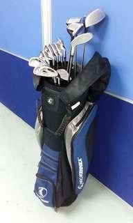 PROKENNEX Full Set Golf Club + Stand Bag