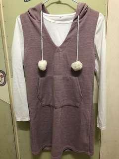 (全新)長版洋裝上衣