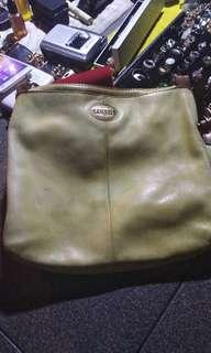 Authentic Fossil sling bag all leather