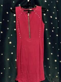 H&M Fuschia Studded Dress