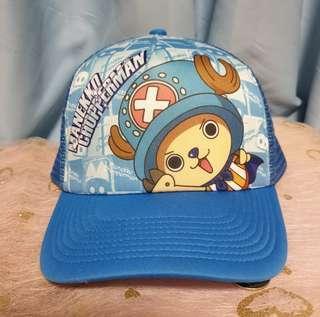 夏日遮陽 海賊王航海王 喬巴超人藍色透氣網帽 鴨舌帽 可調式