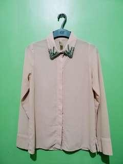 Polo Long Sleeves   Baby Pink