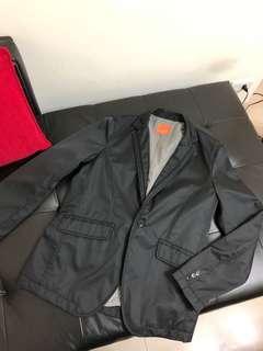 日本ANGEL 黑色男性休閒式西裝外套L