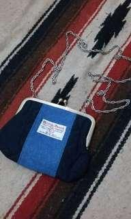 Harris Tweed × Closshi classic sling bag / purse