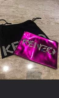 100% authentic Kenzo clutch pink