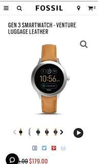 Jam fossil GEN 3 SMARTWATCH - VENTURE LUGGAGE LEATHER