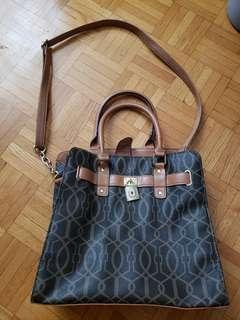 Brown bag with strap