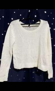 H&M Cream Knitted Top
