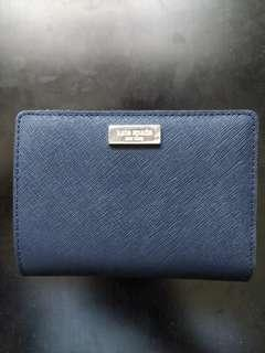 Authentic Navy Kate Spade Bifold Wallet