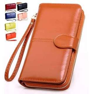 Leather multifunction wallet