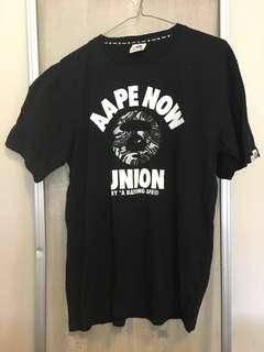 AApe Black and Grey Camo Tshirt Size L