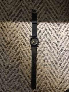 Black small watch