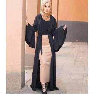 Flare Sleeve Cardigan Robe Dress PRE ORDER