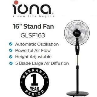 IONA 16 stand fan with 3 speed GLSF163