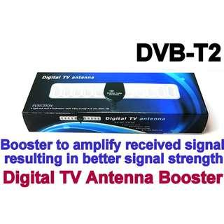 Digital TV Antenna Booster(5 meter cable length Flat type 30 DBI DVB-T2 DTV USB Powered) DVB-T2