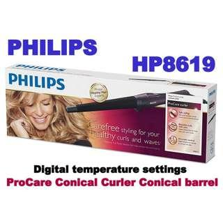 Philips HP8619/00 ProCare Conical Curler Conical barrel