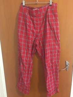 Universal Store Red Gingam Pants