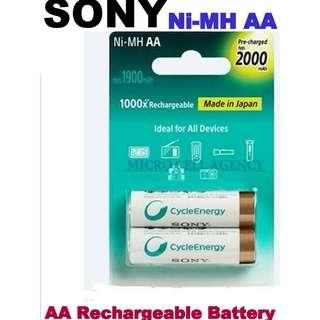 SONY  AA  Rechargeable Battery ★ 1000x Rechargeable ★ Ideal for All Device ( MADE IN JAPAN )