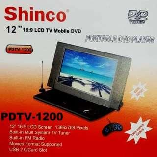 SHINCO 12 INCH LCD TV MOBILE DVD PDVT-1200