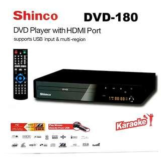 SHINCO DVD PLAYER WITH HDMI PORT  MULTI-REGION DVD-180
