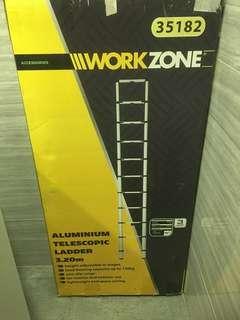 WorkZone telescopic ladder 3.2m