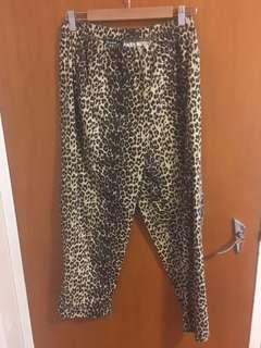Vintage Leopard Print High Waisted Pants