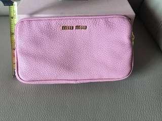 Miu Miu pink pink 隨身小袋,長帶,咭,盒齊, 平售