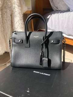 CLASSIC SAC DE JOUR BABY IN GRAINED LEATHER (BLACK) - USED ONCE
