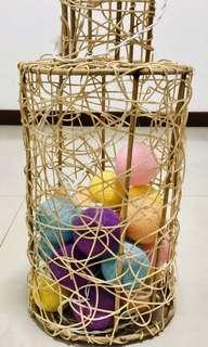 [Moving Out Sale] Basket with string ball fairy lights
