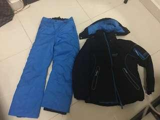 Ski suit jacket and pants for 10 y 140 size