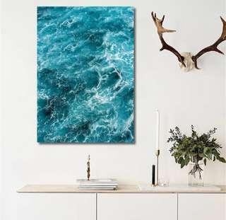 Blue Sea Canvas Painting