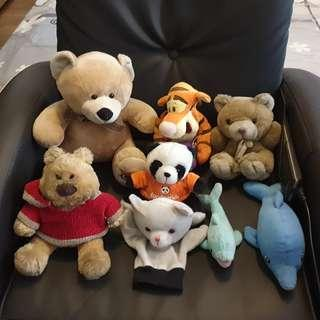 Beautiful well taken care of Soft Toys Total value $200+