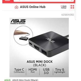 New Original Asus brand Multi USB Type-C mini Dock. Retail S$129