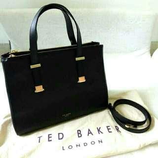 NEW Ted Baker black leather bag