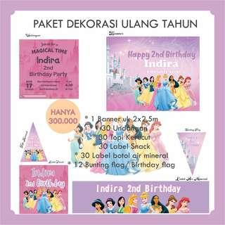 🚚 Birthday package decorations