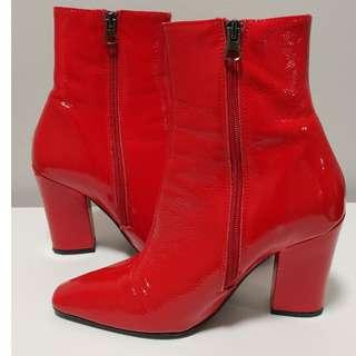Red Patent Boots from L'Intervalle