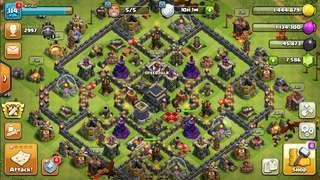 Clash Of Clan TH9 7K++ Gems