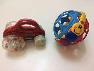 Baby Einstein ball and baby car toy