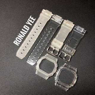 Custom band and bezel for DW5600 , custom transparent and translucent straps , G-Shock , gshock , Casio , casio, CASIO