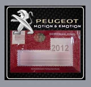 Peugeot Road Tax Sticker