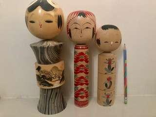 Authentic Kokeshi Dolls from Japan