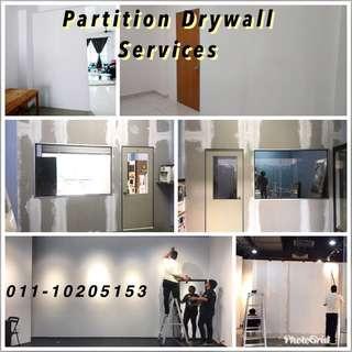 Pasang Dinding Partition Gypsum Material Untuk Rumah Pejabat