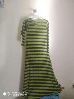 Dress panjang garis2