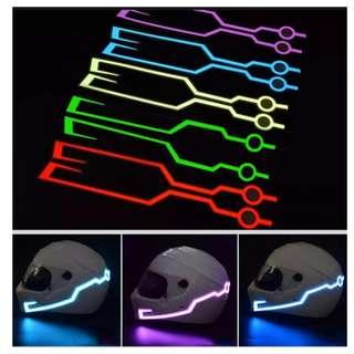 👍👍Night Safety Helmet luminous Light Strip LED Night Signal Stripe with glowing bar lights (battery operated) Usual Price :$ 39.90 Now only $14.90.
