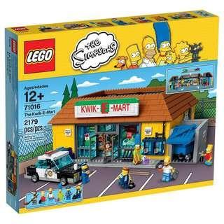 清貨 樂高 靚盒 全新 未開封 Lego 71016 Simpsons The Kwik-E-Mart Lego etc
