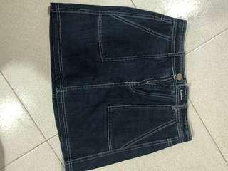 Brandy inspired denim skirt