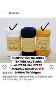 Bedong / Swaddle Akusvara Texture White