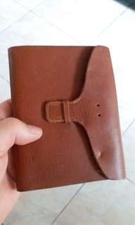 真皮 封面記事簿leather cover note book