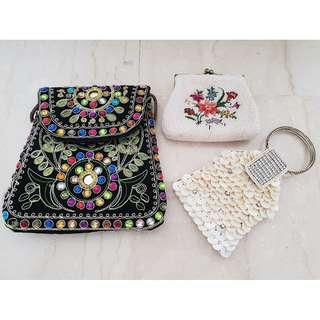 Brand New Sling Bag, Wristlet & Purse From Overseas